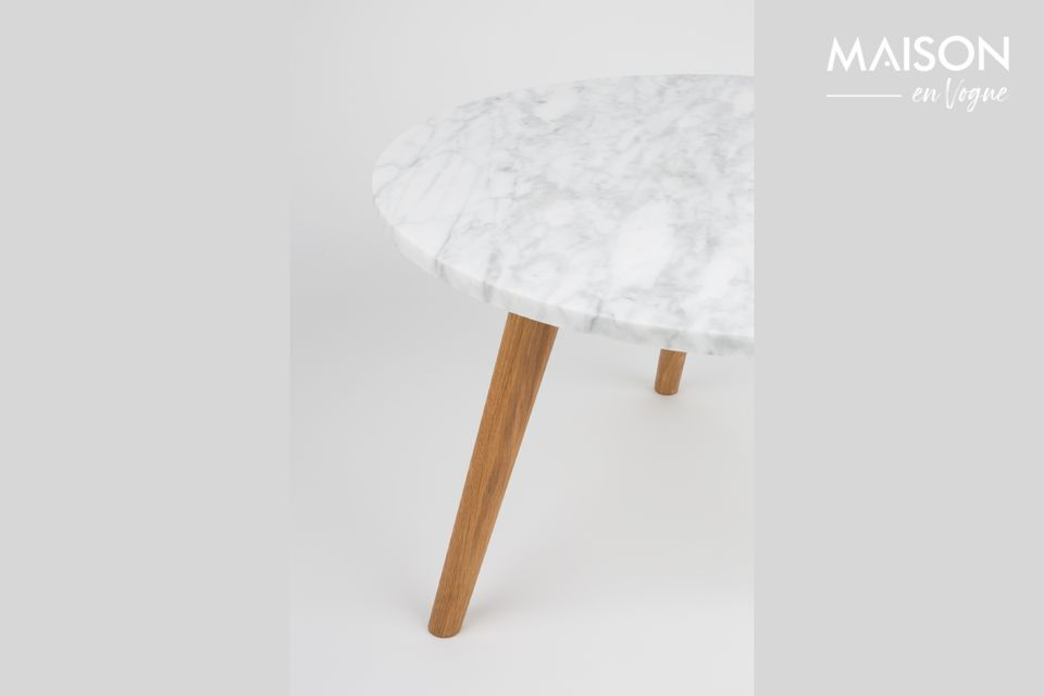 Table d'appoint Pierre Blanche taille L - 7