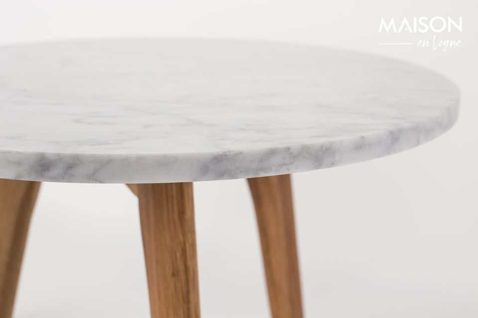 Table d'appoint Pierre Blanche taille S - 8