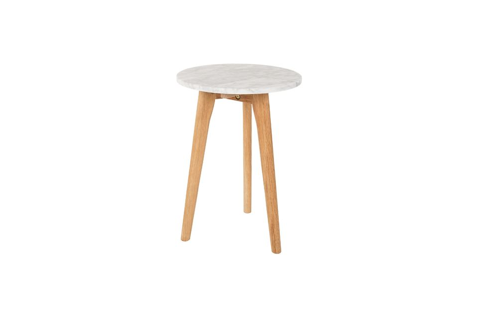 Table d'appoint Pierre Blanche taille S - 10
