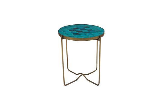 Table d'appoint Séguret écailles bleues en céramique Détouré