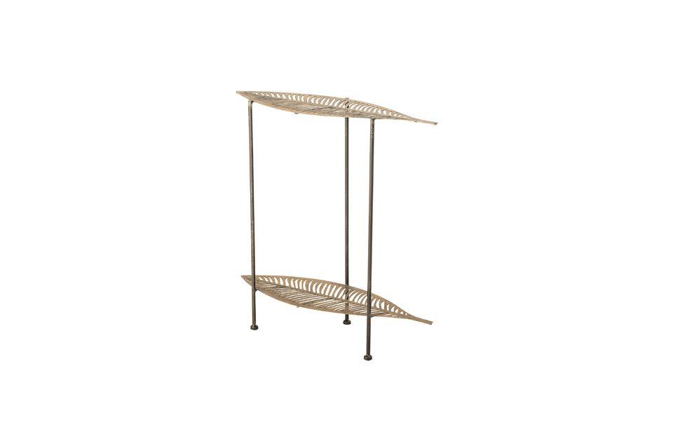 Table d'appoint Silja en métal doré - 3