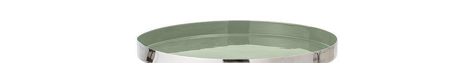 Mise en avant matière Table d'appoint Sola verte