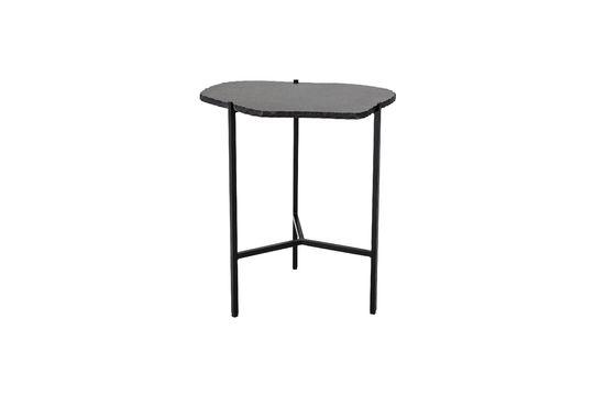 Table d'appoint Svea noire en marbre Détouré