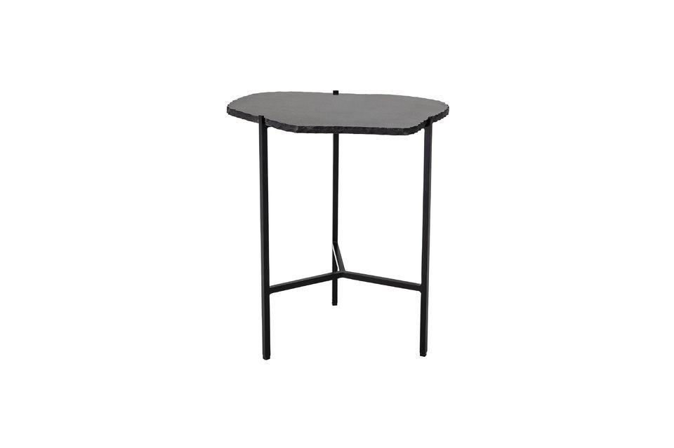 Table d'appoint Svea noire en marbre Bloomingville