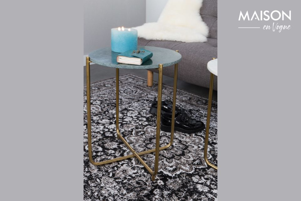 Table d'appoint Timpa en marbre vert - 6