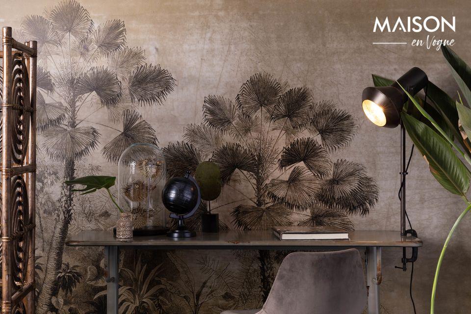 Une table au style industriel, parfaite pour meubler un loft contemporain