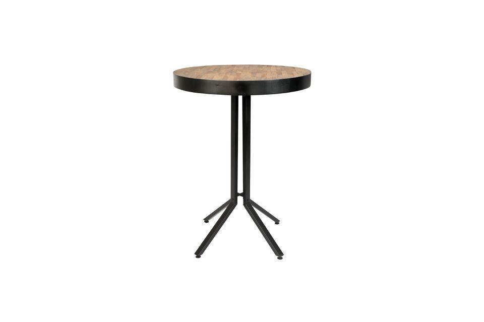 Table de bar Maze ronde finition naturelle - 5