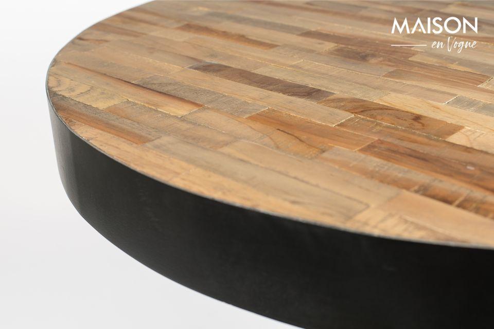 Avec cette Table De Bar Maze Rond Naturel