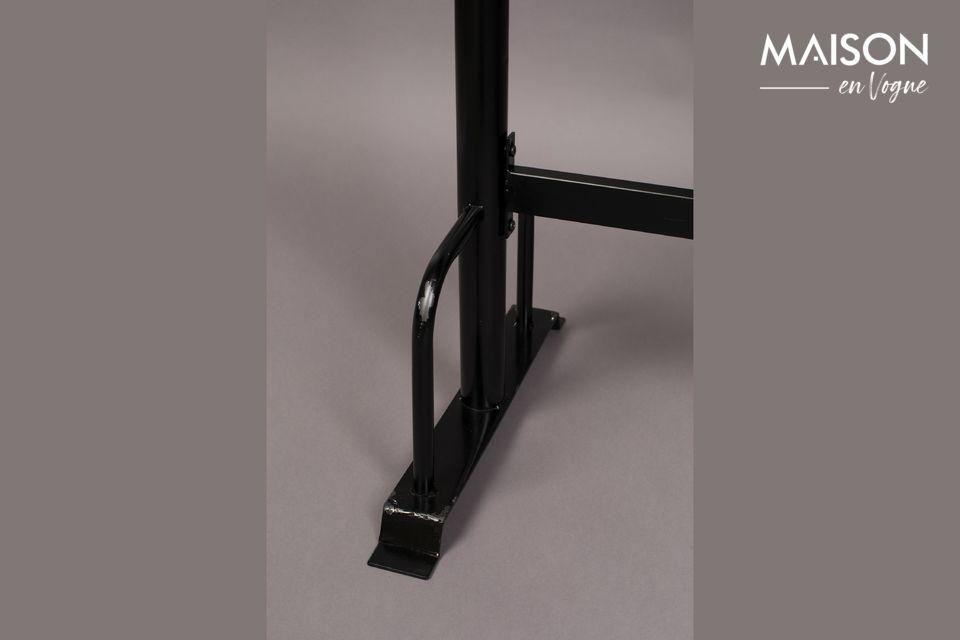 Table de bar rectangulaire en métal