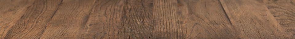 Mise en avant matière Table de comptoir Braza carrée coloris brun