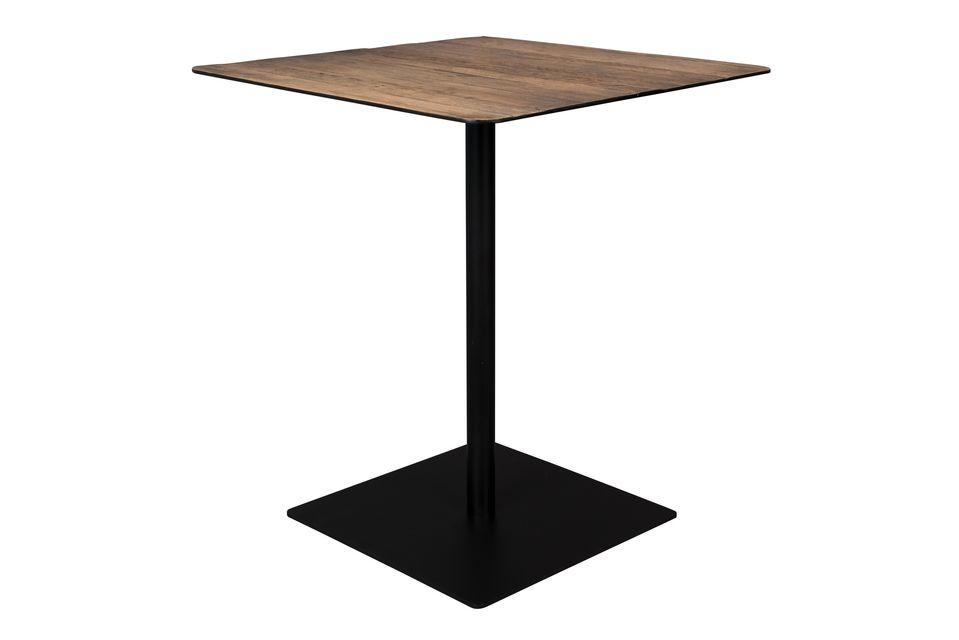 Table de comptoir Braza carrée coloris brun - 5
