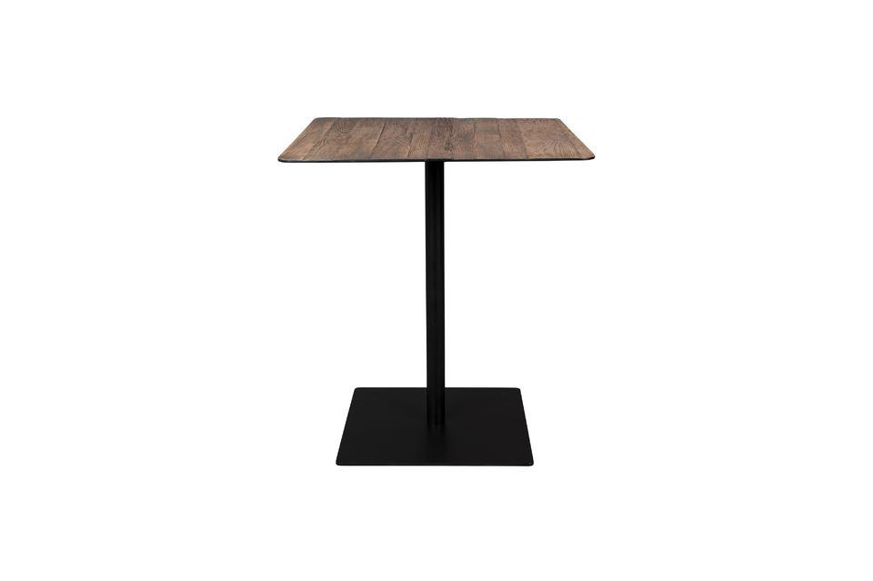 Table de comptoir Braza carrée coloris brun Dutch Bone
