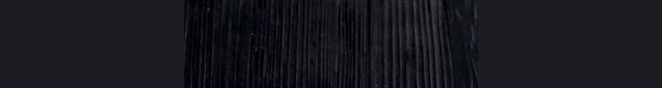 Mise en avant matière Table de comptoir Braza carrée coloris noir