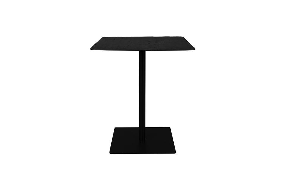 Table de comptoir Braza carrée coloris noir Dutch Bone