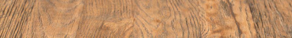 Mise en avant matière Table de comptoir Braza ronde coloris brun