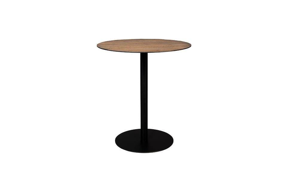Table de comptoir Braza ronde coloris brun