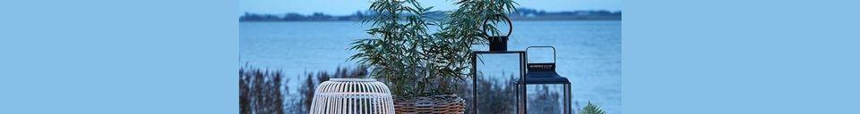 Mise en avant matière Table de jardin Garden en acier laqué