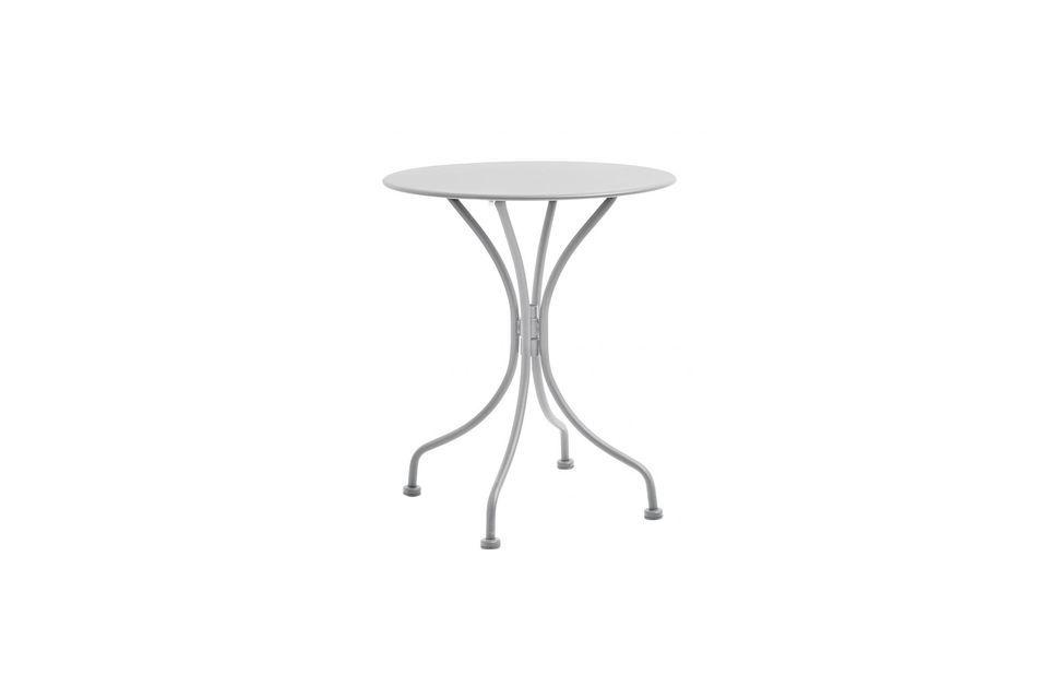 Table de jardin ronde Garden en acier laqué Nordal
