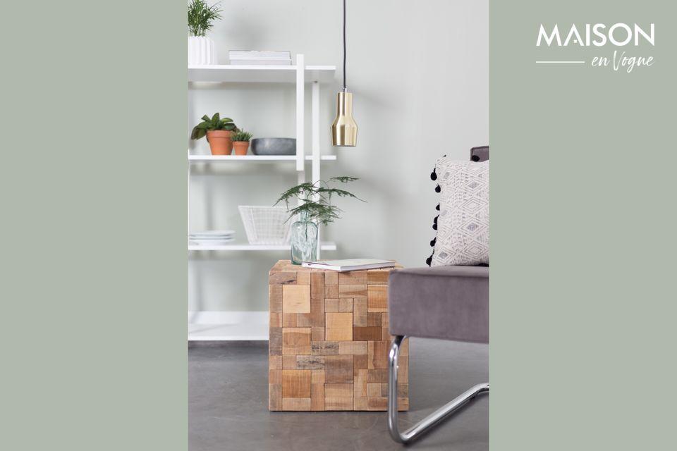 Cette petite table d\'appoint accentuera le caractère cosy et chaleureux d\'un salon ou d\'une