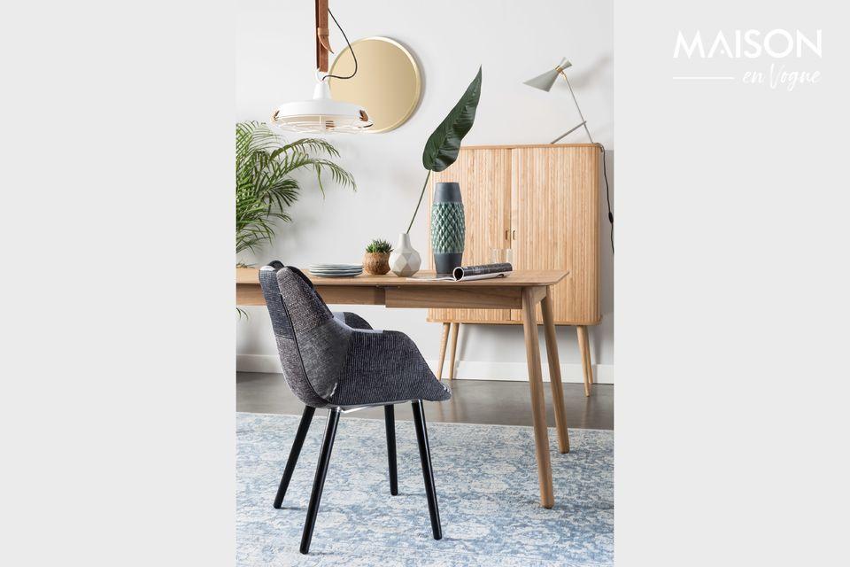 Une table naturelle, solide et extensible