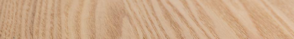 Mise en avant matière Table Glimps 120 162X80 Naturelle