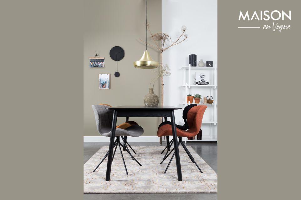 Table Glimps 120 162X80 Noire