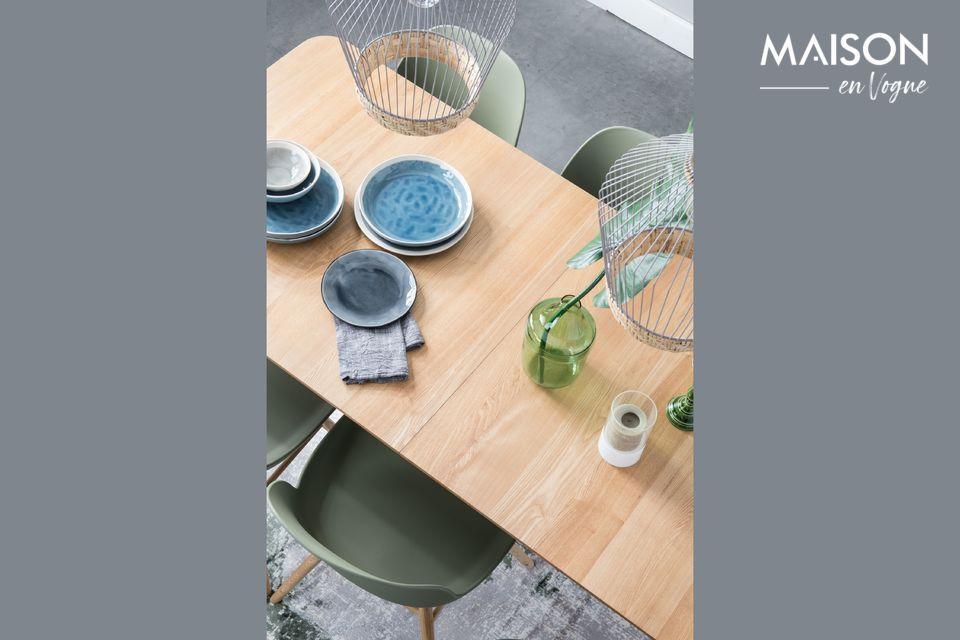 Cette table Glimps 180/240x90 Natural s\'adaptera facilement à votre quotidien