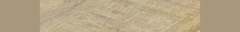 Mise en avant matière Table Haute Bistro en bois de manguier