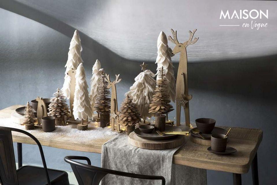 Un bois chaleureux et un design élégant pour le plaisir de s'attabler