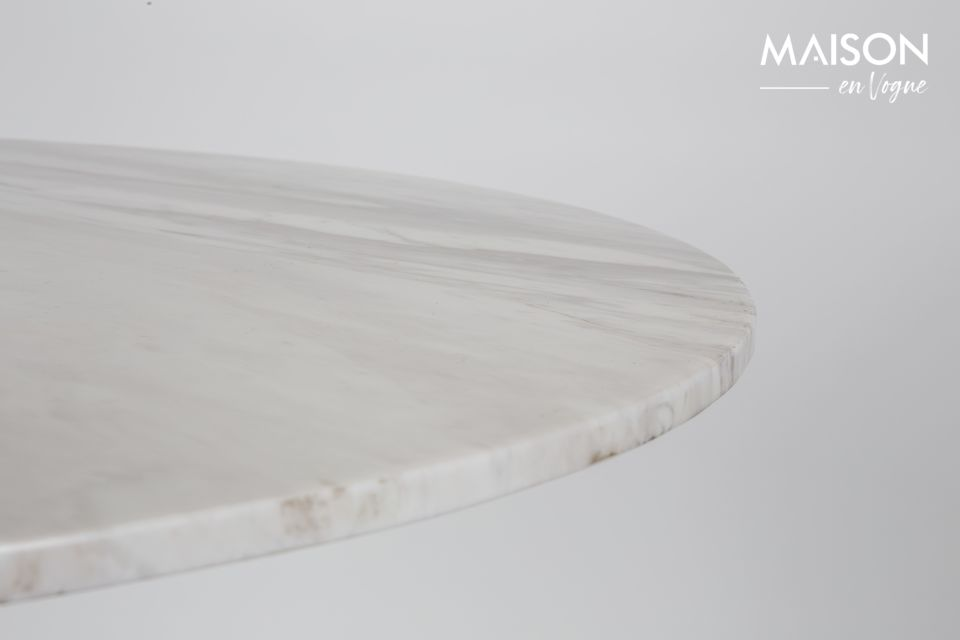 Table Marble King 90' noire - 8