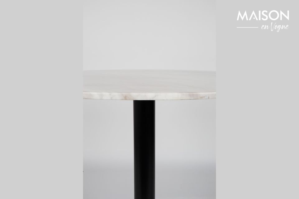 Table Marble King 90' noire - 11