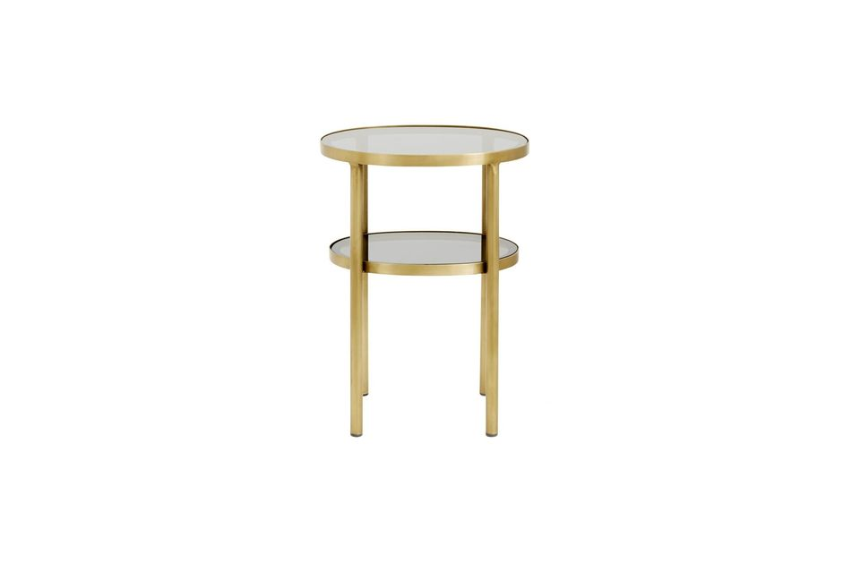Une table d'appoint ovale à deux étages