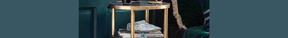 Mise en avant matière Table ovale Luxury en verre