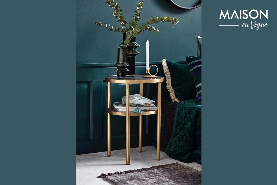 Table ovale Luxury en verre Nordal