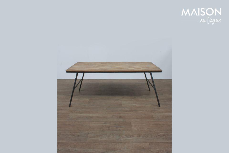 Table pliable Market en teck recyclé Chehoma