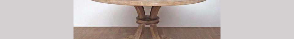 Mise en avant matière Table ronde en bois Valbelle