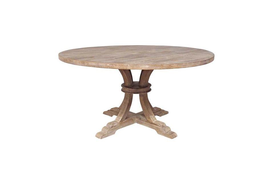 La table Vabelle de Chehoma vous propose d\'opter pour le rétro avec sa table ronde au style