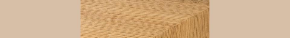 Mise en avant matière Table Seth 180X90 Chêne