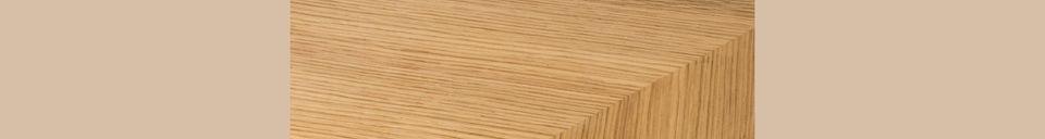Mise en avant matière Table Seth 220X90 en chêne