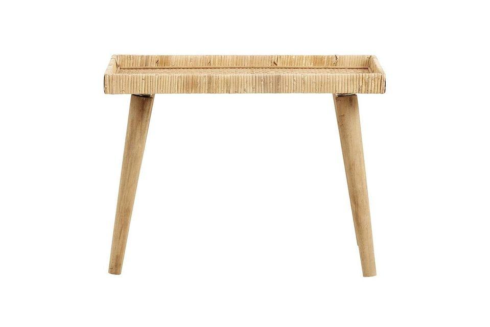Table Turn en rotin