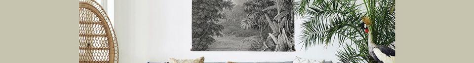 Mise en avant matière Tableau mural La Jungle XXL