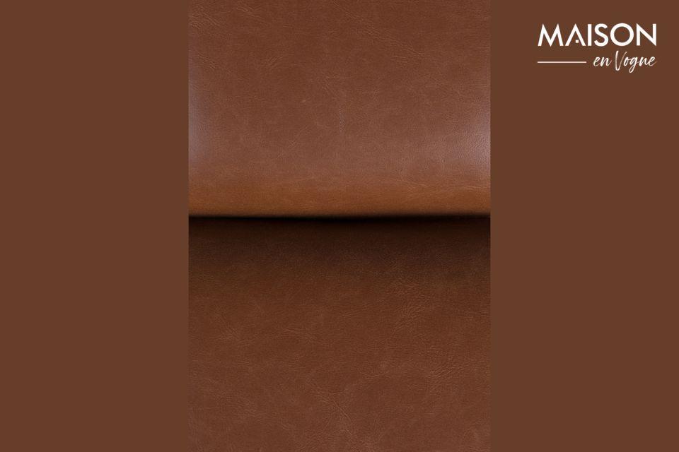 L\'aspect luxueux et cosy du rembourrage recouvert de cuir marron fera sensation auprès de vos