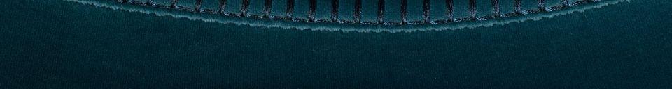 Mise en avant matière Tabouret de bar Franky coloris bleu pétrole
