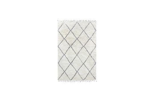 Tapis berbère Larra en laine noir et blanc 200x300 Détouré