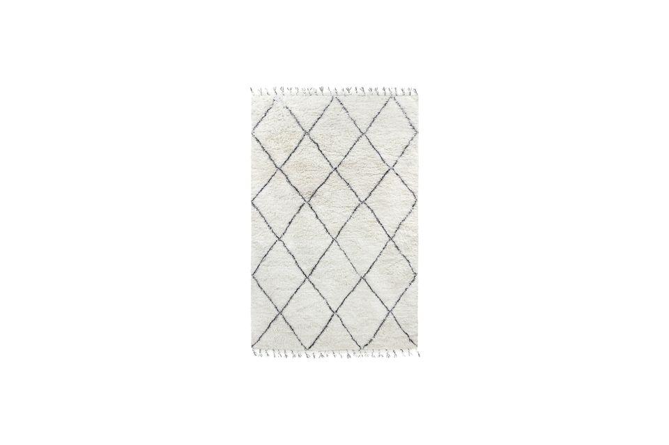 Tapis berbère Larra en laine noir et blanc 200x300 HK Living