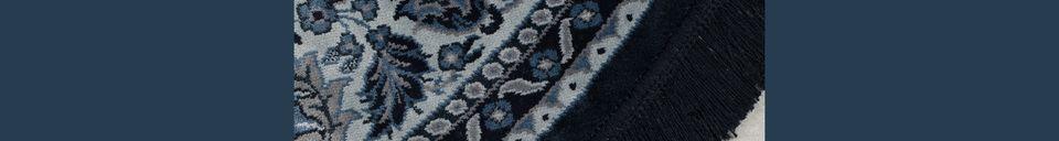 Mise en avant matière Tapis Bodega bleu 175 centimètres