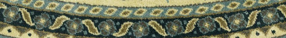Mise en avant matière Tapis Bodega vert 175 centimètres