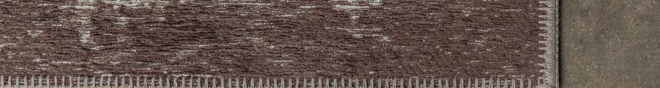 Mise en avant matière Tapis Caruso 170X240 brun détressé