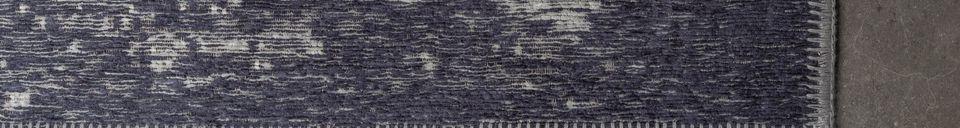 Mise en avant matière Tapis Caruso coloris bleu délavé