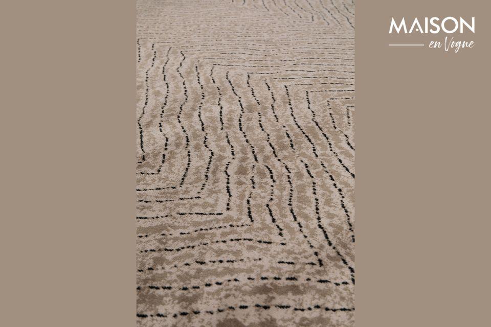 Ce tapis Freek 170x240 Marron de White Label Living apportera une réelle touche déco ainsi qu\'une